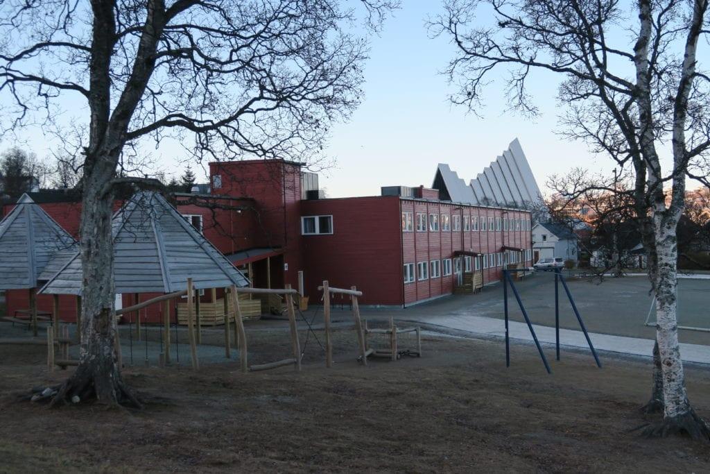 Tromsdalen skole, flytting modulskole fra Bymyra til Tromsdalen